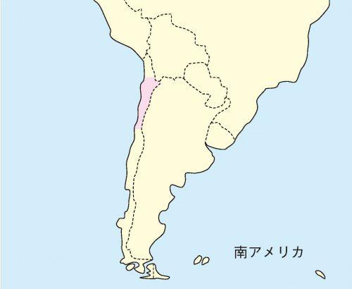チンチラ分布地図