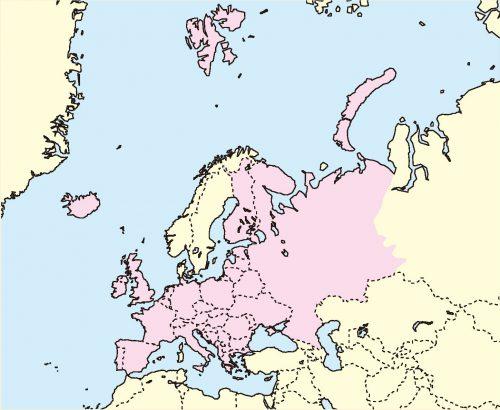 ヨーロッパケナガイタチ分布地図