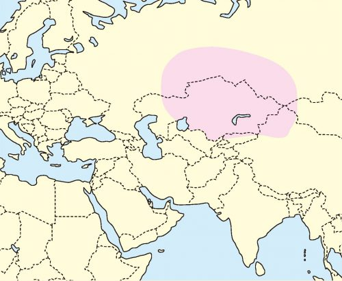 ジャンガリアンハムスター分布地図