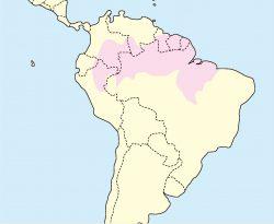 リスザル分布地図